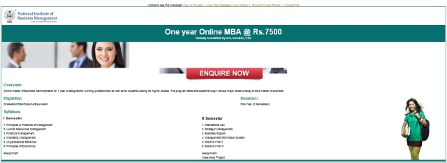 MBA for just Rs.7,500